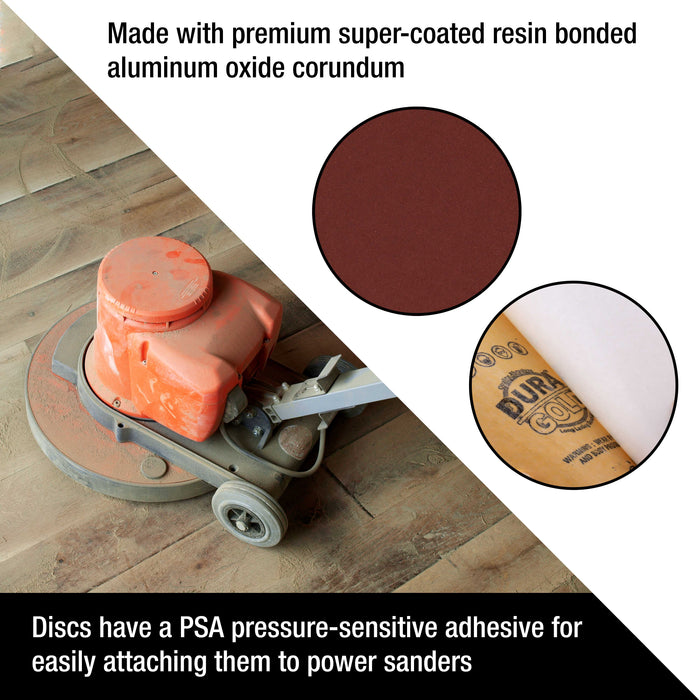 "Dura-Gold Premium 10"" PSA Sanding Disc Variety Pack, 2 Each of 60, 80, 120, 180 & 240 Grit Self Adhesive Aluminum Oxide Sandpaper Drywall, Floor, Wood"