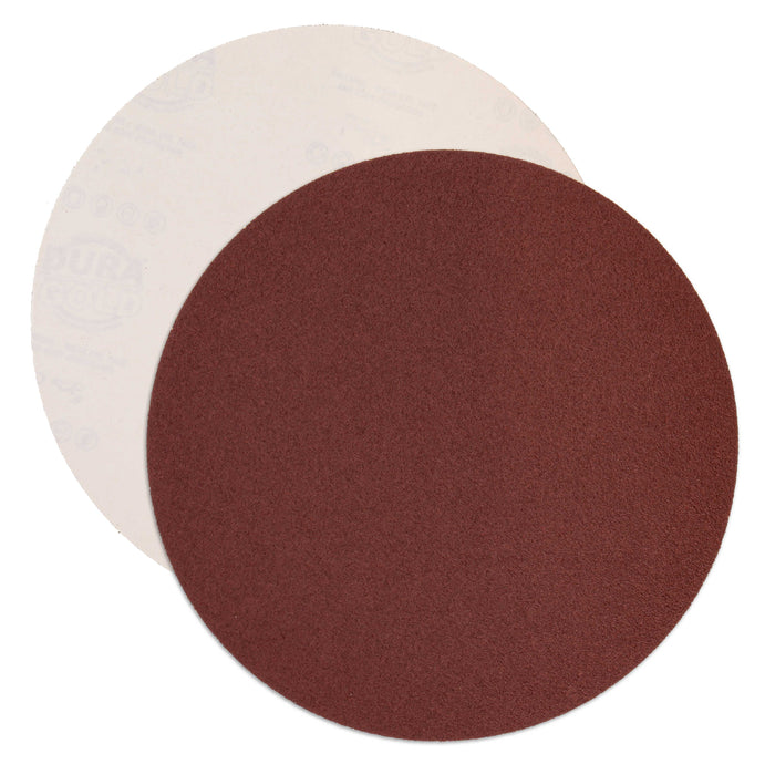 "Dura-Gold Premium 12"" PSA Sanding Discs - 80 Grit (Box of 5) - Sandpaper Discs with Self Adhesive, Fast Cutting Aluminum Oxide, Drywall, Floor, Wood"