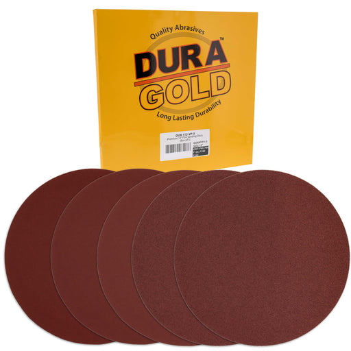 "Dura-Gold Premium 12"" PSA Sanding Disc Variety Pack, 2 Each of 60, 80, 120, 180 & 240 Grit Self Adhesive Aluminum Oxide Sandpaper Drywall, Floor, Wood"
