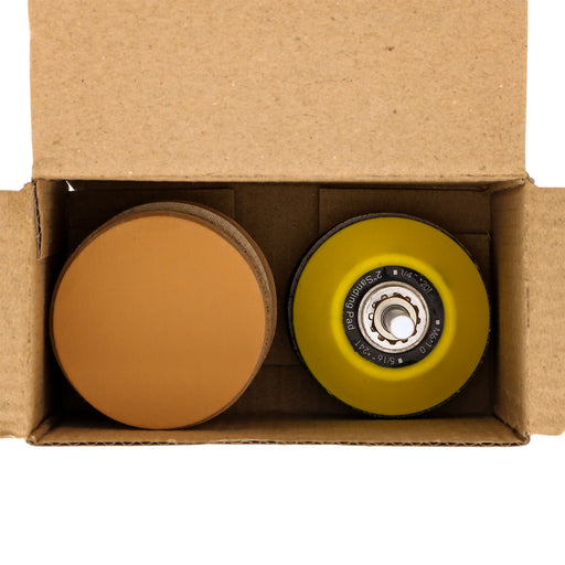 "Variety Grit Pack - 2"" Gold Hook & Loop Sanding Discs for DA Sanders - Box of 50"
