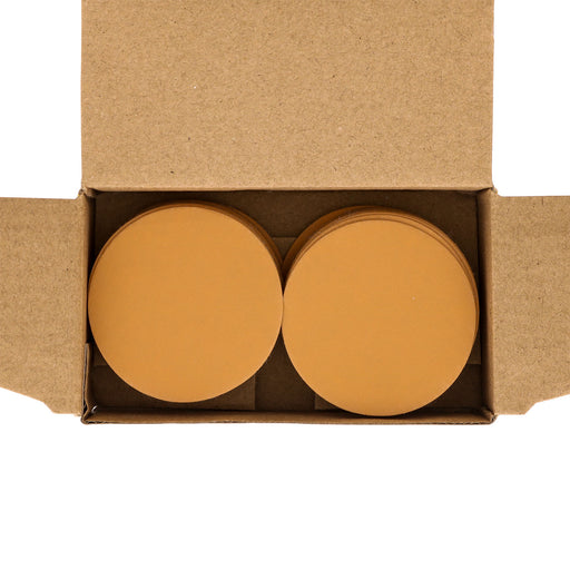 "Dura-Gold - Premium - 1000 Grit 2"" Gold Hook & Loop Sanding Discs for DA Sanders - Box of 40 Sandpaper Finishing Discs for Automotive and Woodworking"