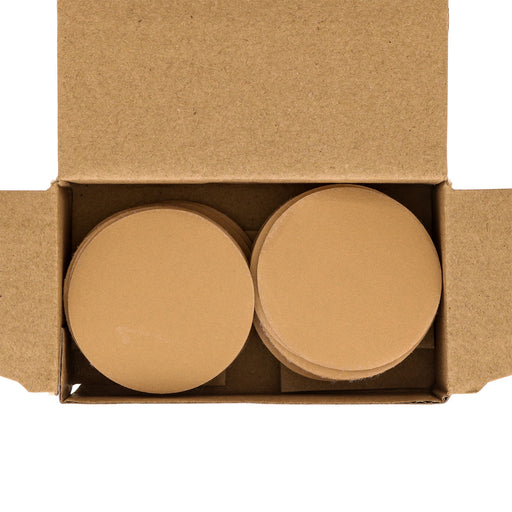"400 Grit - 2"" Gold Hook & Loop Sanding Discs for DA Sanders - Box of 40"