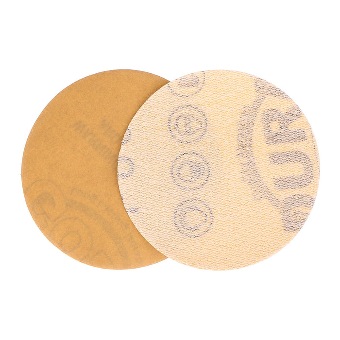 "600 Grit - 2"" Gold Hook & Loop Sanding Discs for DA Sanders - Box of 40"