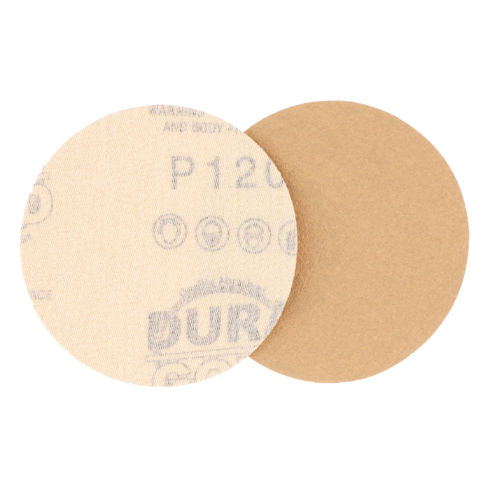 "120 Grit - 3"" Gold Hook & Loop Sanding Discs for DA Sanders - Box of 30"