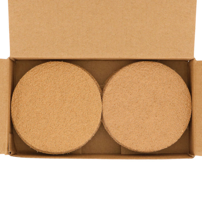 "40 Grit - 3"" Gold Hook & Loop Sanding Discs for DA Sanders - Box of 20"