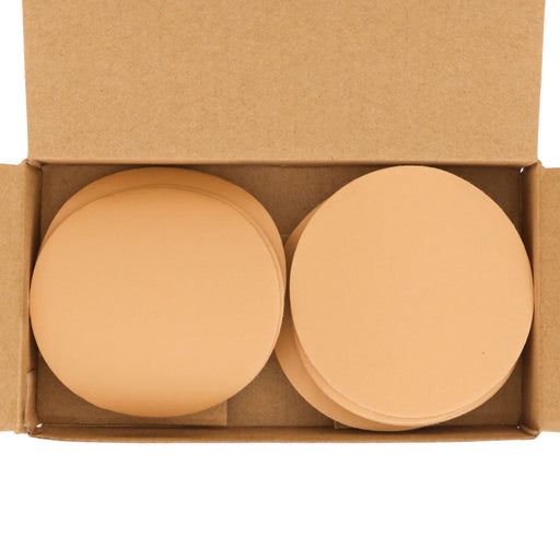 "600 Grit - 3"" Gold Hook & Loop Sanding Discs for DA Sanders - Box of 40"