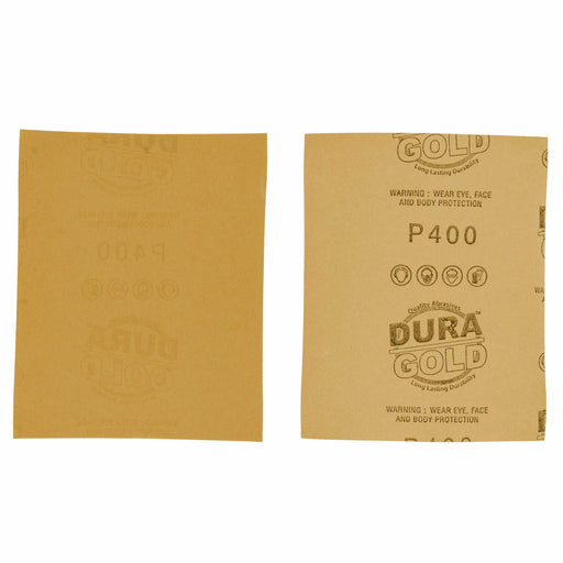 "400 Grit Gold - 1/4 Sheet Plain Backing Sandpaper 5.5"" x 4.5"" - For Palm Sanders - Box of 400"