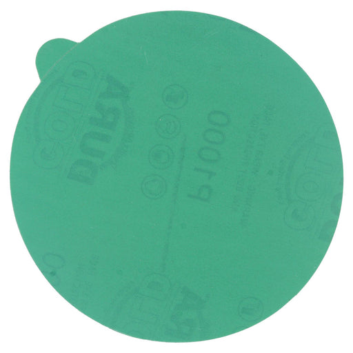 "1000 Grit - 5"" Green Film - PSA Self Adhesive Stickyback Sanding Discs for DA Sanders - Box of 50"