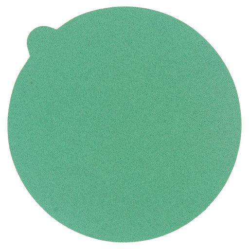 "120 Grit - 5"" Green Film - PSA Self Adhesive Stickyback Sanding Discs for DA Sanders - Box of 50"