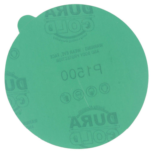 "1500 Grit - 5"" Green Film - PSA Self Adhesive Stickyback Sanding Discs for DA Sanders - Box of 50"