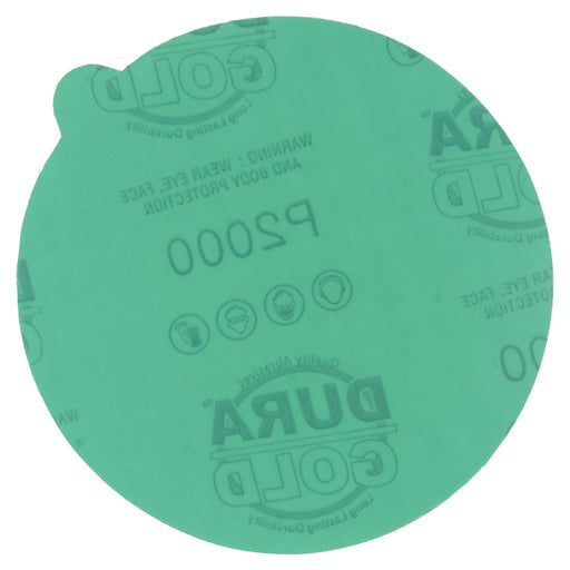 "2000 Grit - 5"" Green Film - PSA Self Adhesive Stickyback Sanding Discs for DA Sanders - Box of 50"
