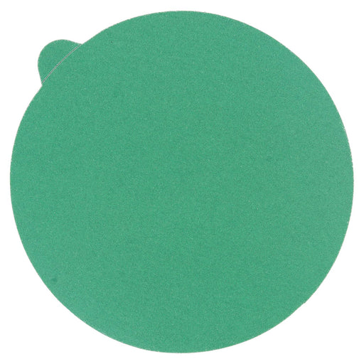 "220 Grit - 5"" Green Film - PSA Self Adhesive Stickyback Sanding Discs for DA Sanders - Box of 50"