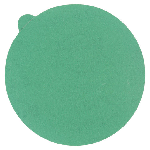 "320 Grit - 5"" Green Film - PSA Self Adhesive Stickyback Sanding Discs for DA Sanders - Box of 50"