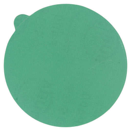 "400 Grit - 5"" Green Film - PSA Self Adhesive Stickyback Sanding Discs for DA Sanders - Box of 50"