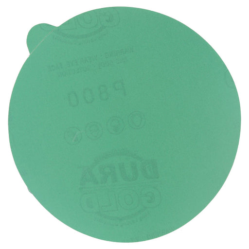 "800 Grit - 5"" Green Film - PSA Self Adhesive Stickyback Sanding Discs for DA Sanders - Box of 50"