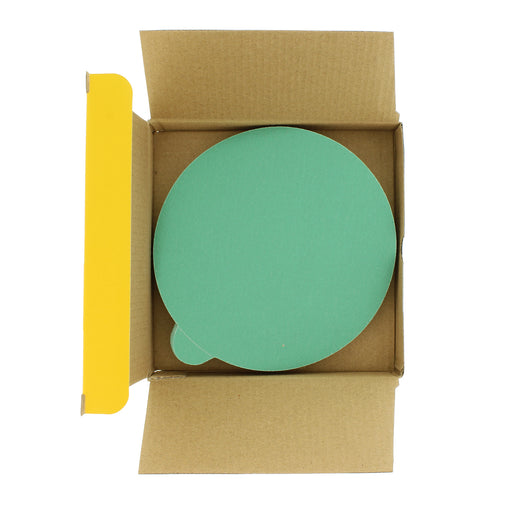 "Dura-Gold - Premium Film Back - 150 Grit 6"" Green Film - PSA Self Adhesive Stickyback Sanding Discs for DA Sanders - Box of 25 Sandpaper Finishing Discs for Automotive and Woodworking"