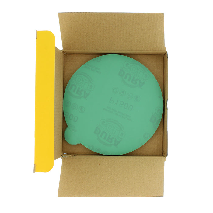 "1500 Grit - 6"" Green Film - PSA Self Adhesive Stickyback Sanding Discs for DA Sanders - Box of 25"