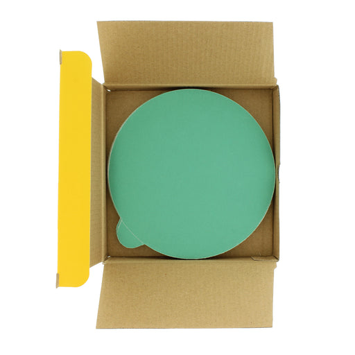 "Dura-Gold - Premium Film Back - 220 Grit 6"" Green Film - PSA Self Adhesive Stickyback Sanding Discs for DA Sanders - Box of 25 Sandpaper Finishing Discs for Automotive and Woodworking"