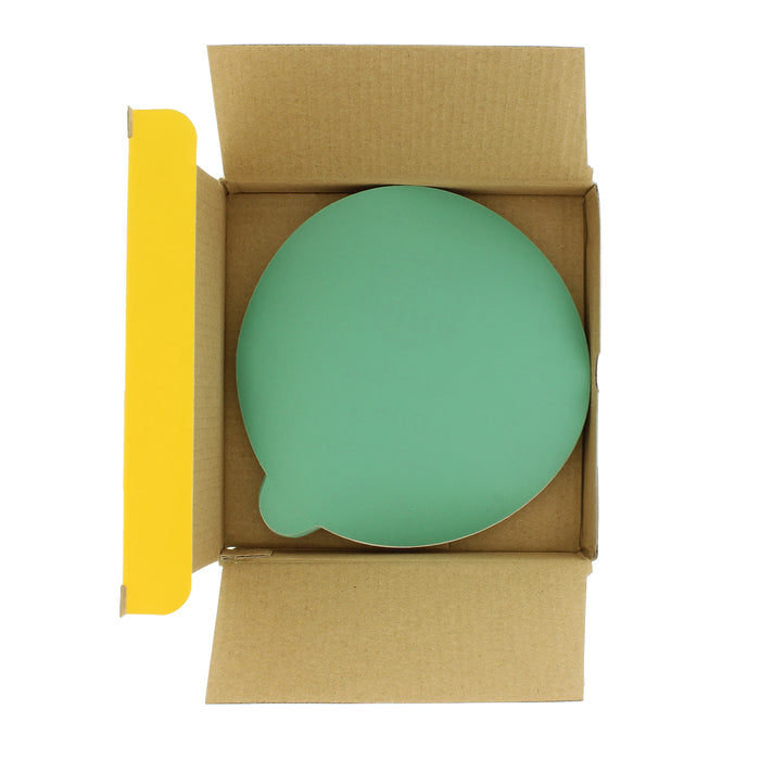 "400 Grit - 6"" Green Film - PSA Self Adhesive Stickyback Sanding Discs for DA Sanders - Box of 25"