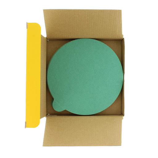 "Dura-Gold - Premium Film Back - 80 Grit 6"" Green Film - PSA Self Adhesive Stickyback Sanding Discs for DA Sanders - Box of 25 Sandpaper Finishing Discs for Automotive and Woodworking"