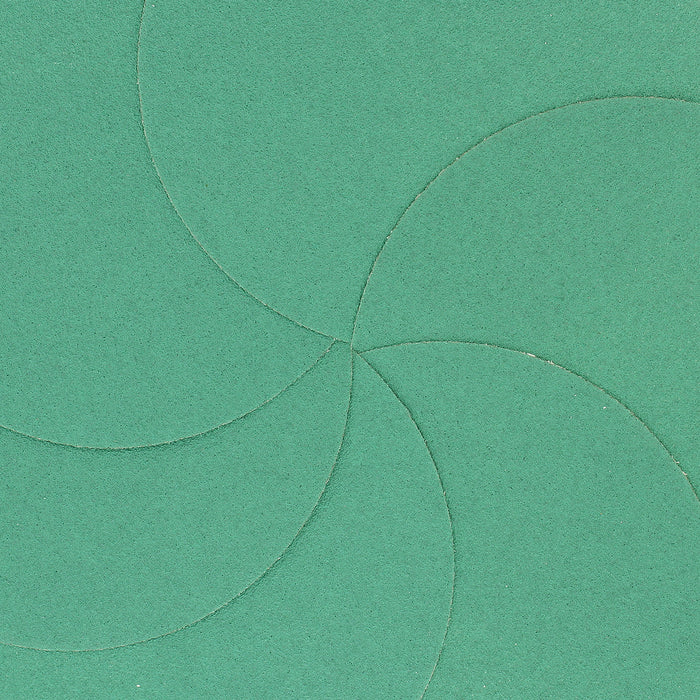 "80 Grit - 6"" Green Film - PSA Self Adhesive Stickyback Sanding Discs for DA Sanders - Box of 25"