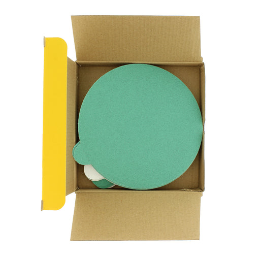 "Dura-Gold - Premium Film Back - Variety Pack 6"" Green Film - PSA Self Adhesive Stickyback Sanding Discs 5 of each grit (80, 120, 220, 320, 400) - Box of 25 total Sandpaper Finishing Discs"