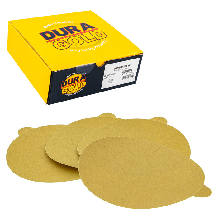 "150 Grit - 6"" Gold PSA Self Adhesive Stickyback Sanding Discs for DA Sanders - Box of 50"