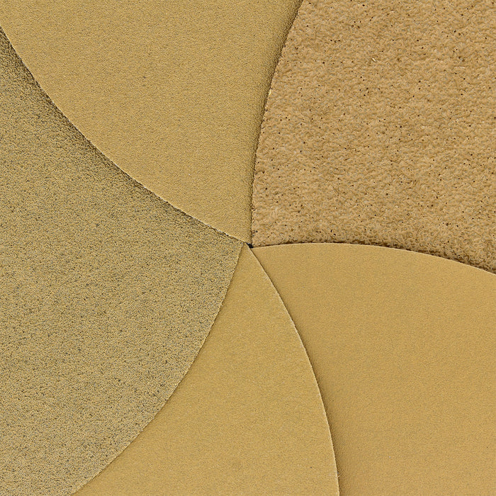 "Dura-Gold - Premium - Variety Pack (40,80,120,220,320) - 8"" Gold PSA Self Adhesive Stickyback Sanding Discs for DA Sanders - Box of 10 Sandpaper Finishing Discs for Automotive and Woodworking"