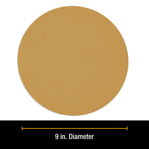 "Dura-Gold Premium 9"" Drywall Sanding Disc Variety Pack Box - 60, 80, 120, 180, 240 Grit (2 Discs Each, 10 Total), Hook & Loop Aluminum Oxide Sandpaper"