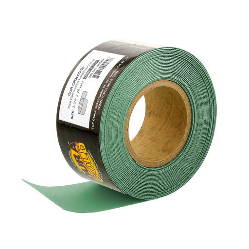 "3000 Grit - Green Film - Longboard Continuous Roll PSA Stickyback Self Adhesive Sandpaper 20 Yards Long by 2-3/4"" Wide"