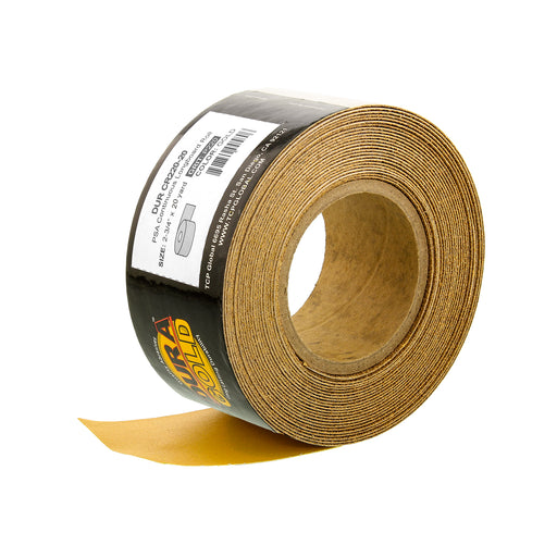 "220 Grit Gold - Longboard Continuous Roll PSA Stickyback Self Adhesive Sandpaper 20 Yards Long by 2-3/4"" Wide"