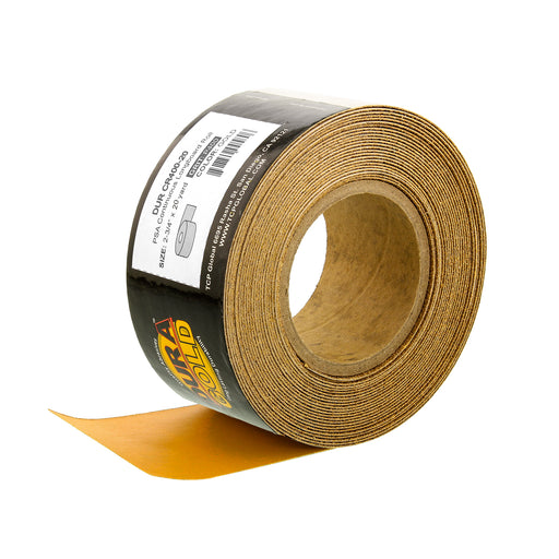 "400 Grit Gold - Longboard Continuous Roll PSA Stickyback Self Adhesive Sandpaper 20 Yards Long by 2-3/4"" Wide"