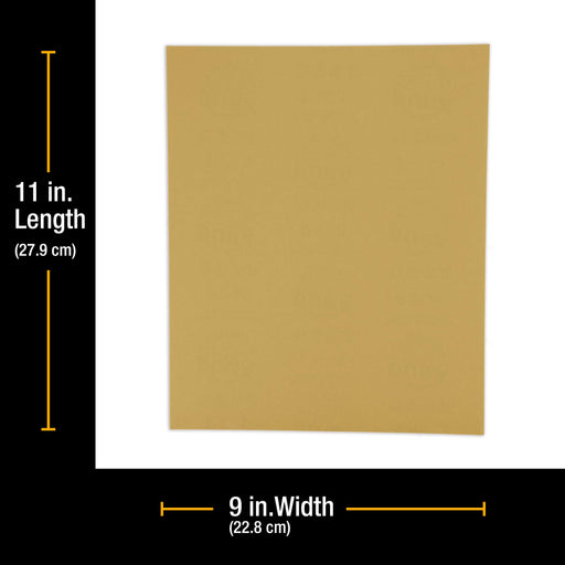 "150 Grit, Full Size 9"" x 11"" Sheets, Wood Workers Gold - Box of 10 Sheets - Hand Sand Block Sanding, Cut to Use On Sanders"