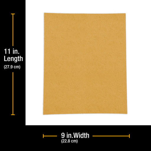 "60 Grit, Full Size 9"" x 11"" Sheets, Wood Workers Gold - Box of 6 Sheets - Hand Sand Block Sanding, Cut to Use On Sanders"