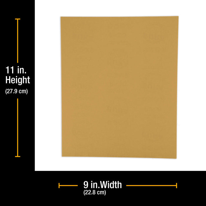 "600 Grit, Full Size 9"" x 11"" Sheets, Wood Workers Gold - Box of 10 Sheets - Hand Sand Block Sanding, Cut to Use On Sanders"