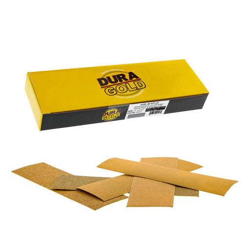 "Dura-Gold - Premium - Variety Pack (60,80,120,150,220) - Jitterbug Hook & Loop Sandpaper 9"" x 2-2/3"" for Automotive & Woodworking - Box of 25"