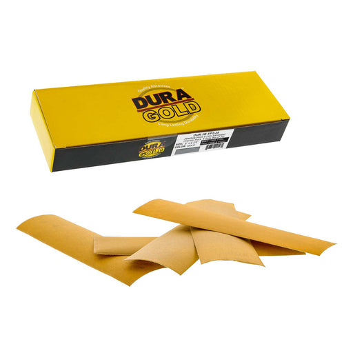 "Variety Grit Pack - (320,400,600,800,1000) - Hand Sanding Sandpaper Sheets Hook & Loop 9"" x 2-2/3"" - Box of 25"