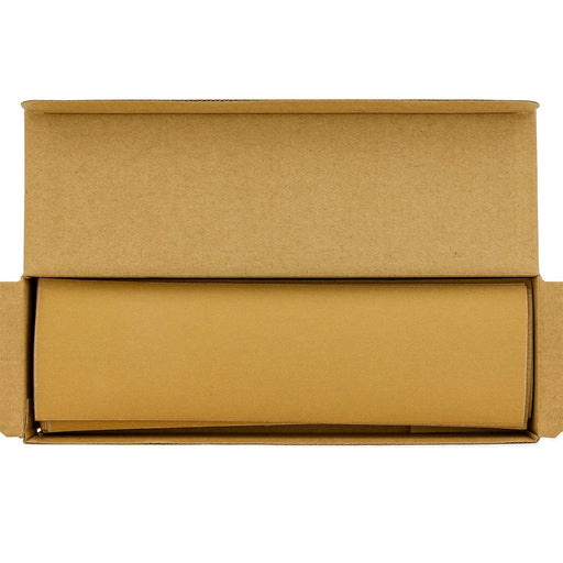 "Dura-Gold - Premium - 220 Grit Gold - Jitterbug Hook & Loop Sandpaper 9"" x 2-2/3"" for Automotive & Woodworking - Box of 25"
