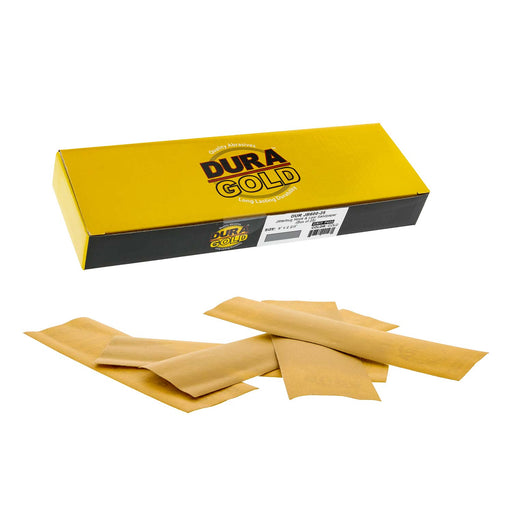 "600 Grit - Gold - Hand Sanding Sandpaper Sheets Hook & Loop 9"" x 2-2/3"" - Box of 25"