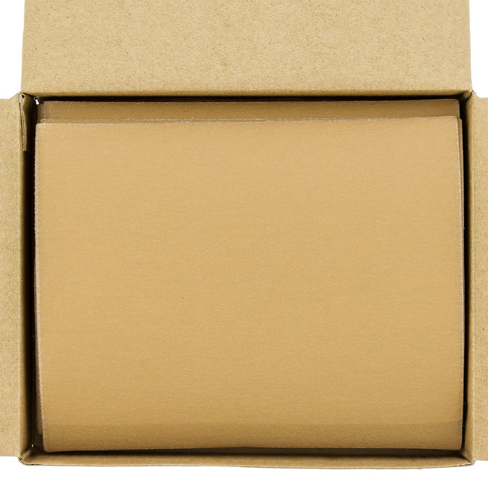 "Dura-Gold - Premium - 240 Grit Gold - 1/4 Sheet Hook & Loop Sandpaper 5.5"" x 4.5"" - For Automotive & Wookworking Palm Sanders - Box of 25"