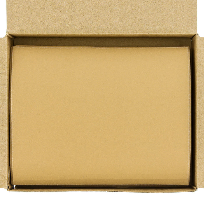 "320 Grit - 1/4 Sheet Hook & Loop Sandpaper 5.5"" x 4.5"" - For Automotive & Wookworking Palm Sanders - Box of 25"