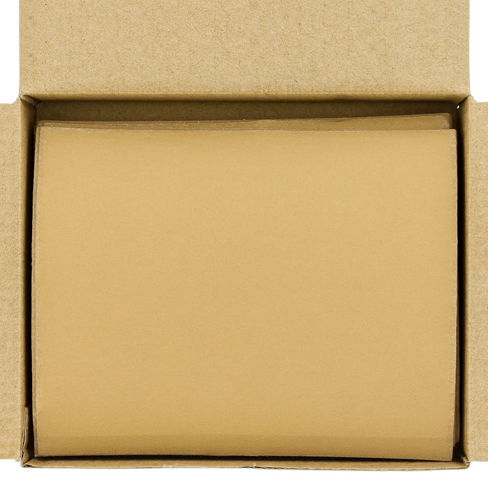 "Dura-Gold - Premium - 400 Grit Gold - 1/4 Sheet Hook & Loop Sandpaper 5.5"" x 4.5"" - For Automotive & Wookworking Palm Sanders - Box of 25"