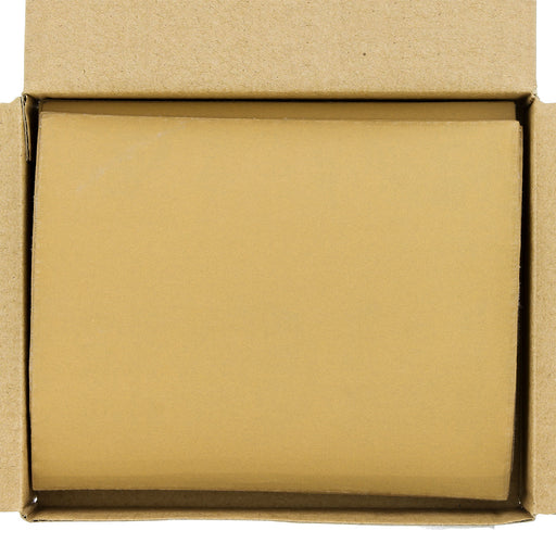 "Dura-Gold - Premium - 600 Grit Gold - 1/4 Sheet Hook & Loop Sandpaper 5.5"" x 4.5"" - For Automotive & Wookworking Palm Sanders - Box of 25"