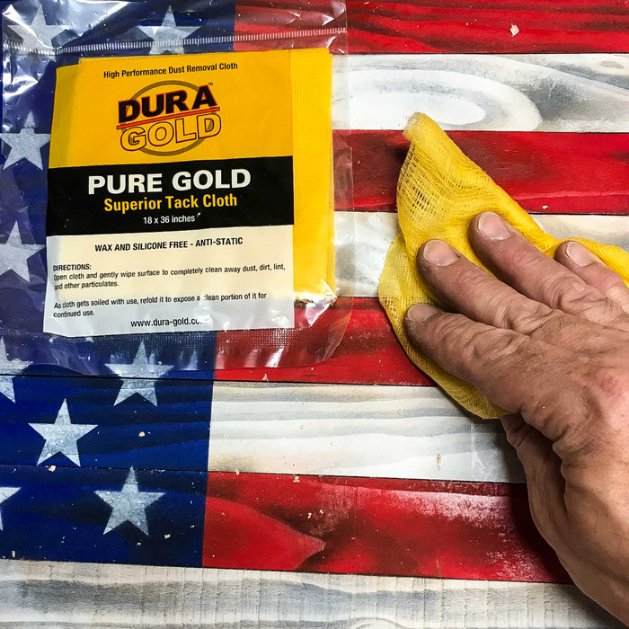 Pure Gold Superior Tack Cloths - (Box of 12) - Woodworker and Painters Grade - Compatible with Most Surfaces - Wax and Silicone Free and Anti-Static