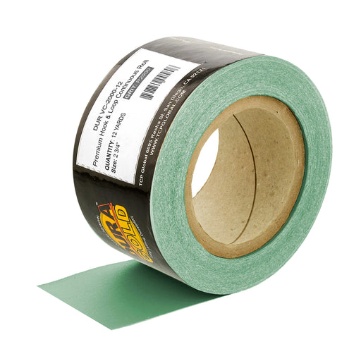 "Dura-Gold Premium 2000 Grit Green Film Longboard Continuous Sandpaper Roll, 2-3/4"" Wide, 12 Yards Long, Hook & Loop Backing - Detailing, Color Sanding"