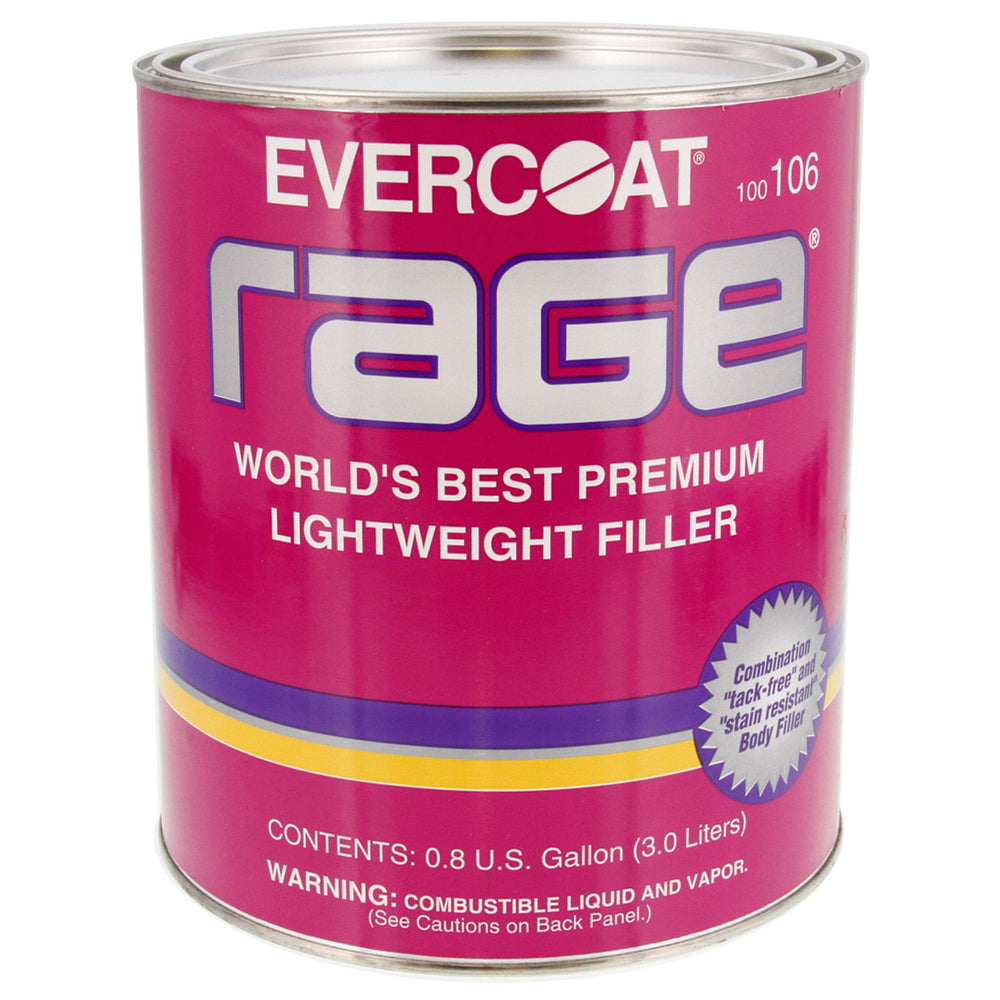 Rage - Premium Lightweight Body Filler, 1 Quart