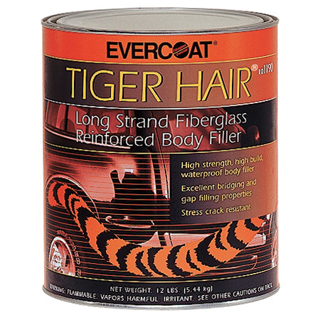 Tiger Hair - Long Strand Fiberglass Reinforced Body Filler, 1 Quart