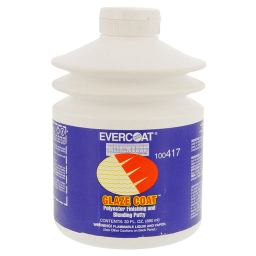 Glaze Coat Polyester Finishing & Blending Putty, 30 oz Pump