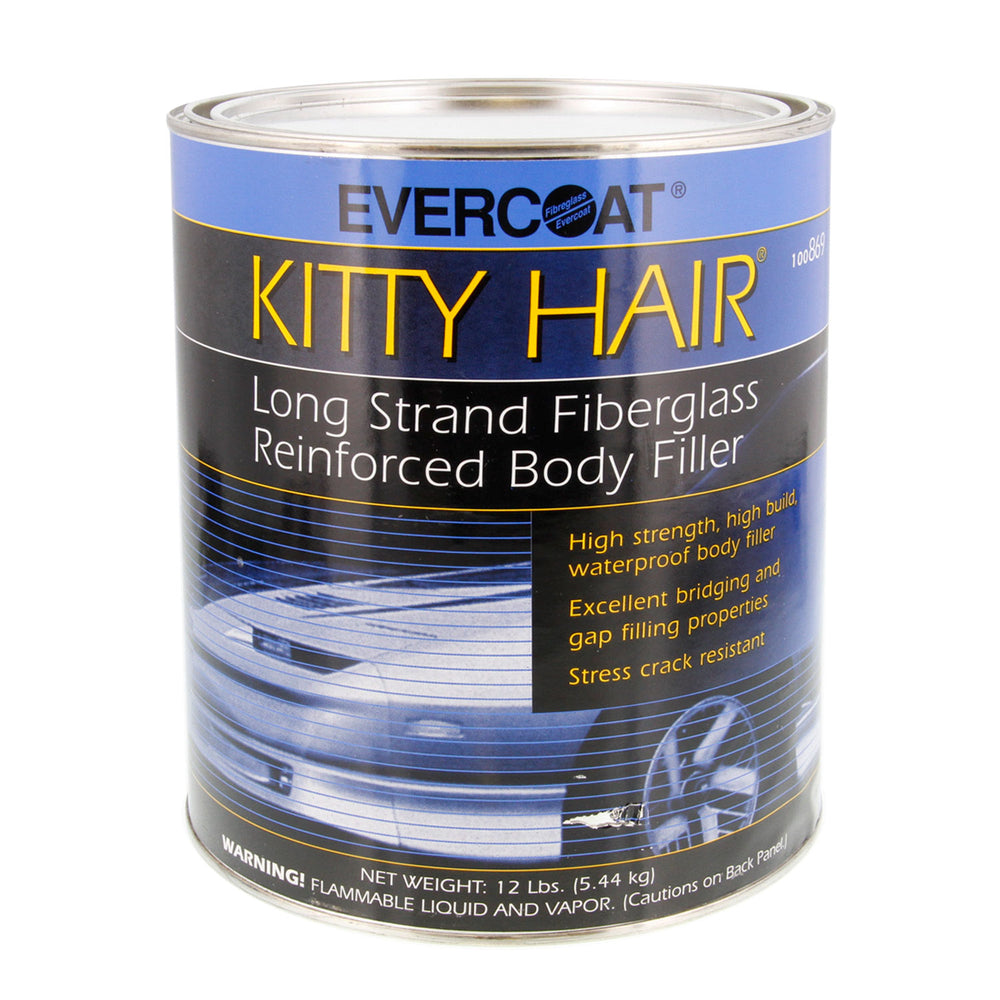 Kitty Hair Long Strand Fiberglass Reinforced Body Filler, 1 Gallon