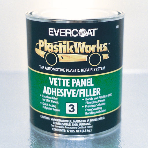 Vette Panel Adhesive & Filler for Non-SMC Fiberglass Panels, 1 Quart